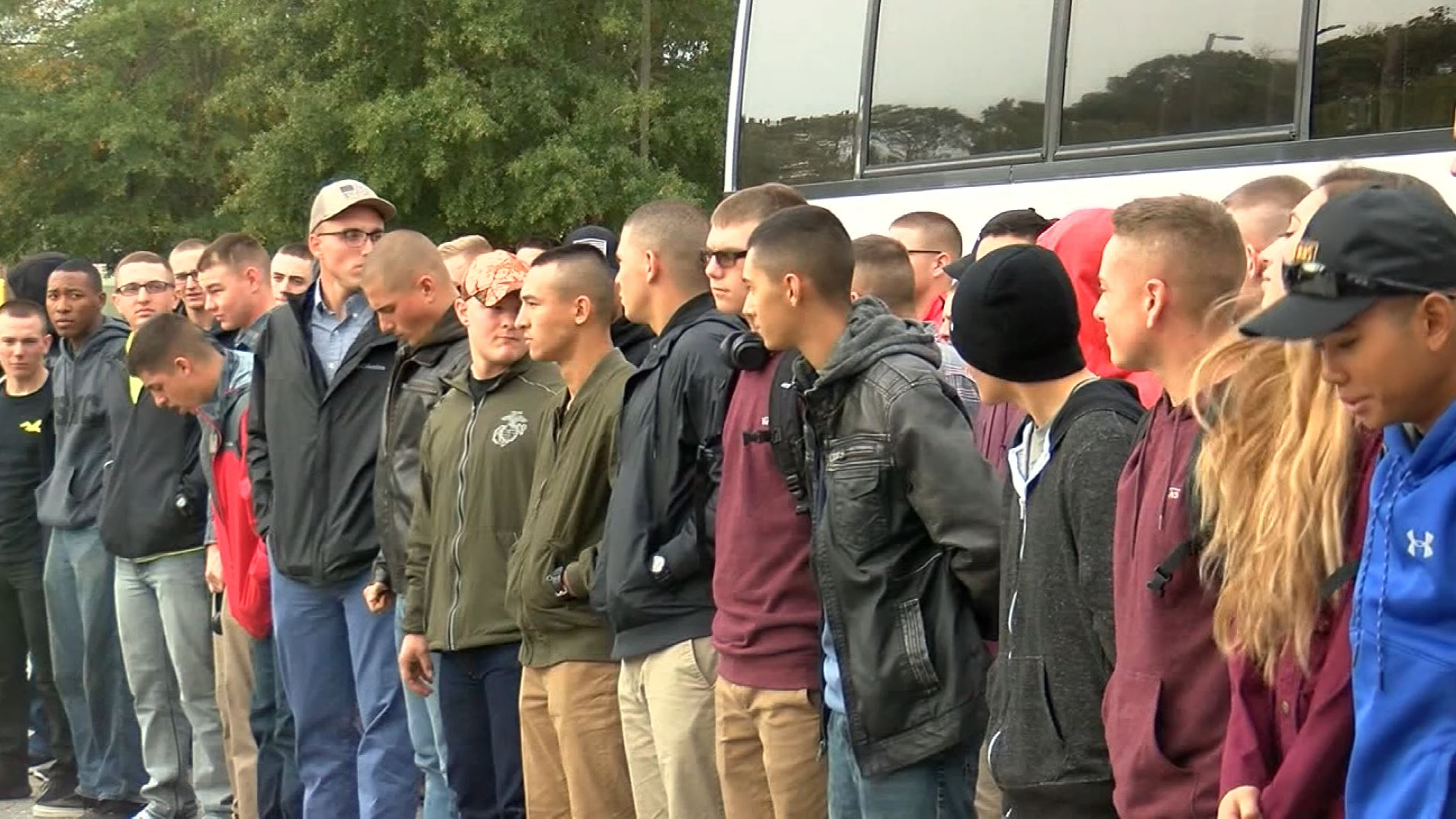 Families host Marines away from home for Thanksgiving (WWAY via CNN Newsource)
