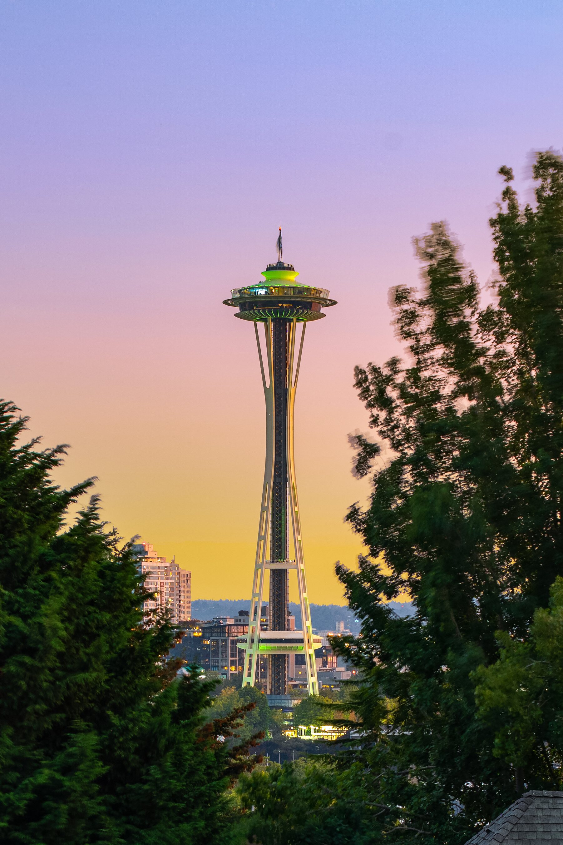 Breathtaking views of the Space Needle.