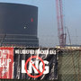 Protesters lock selves to crane at PSE gas facility construction site