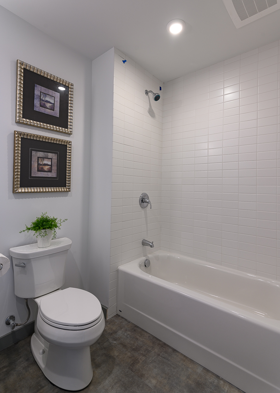 Two-bedroom units feature bathtubs in addition to shower stalls. / Image: Phil Armstrong // Published: 9.2.19