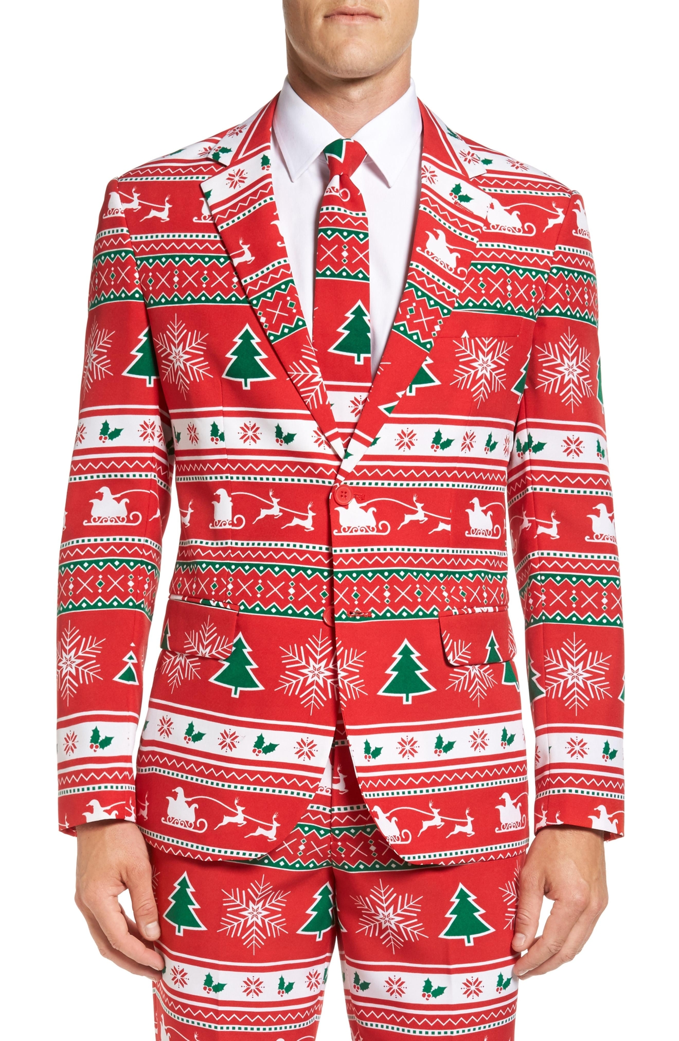 OppoSuits 'Winter Wonderland' Trim Fit Two-Piece Suit with Tie, $99.99(Photo: Nordstrom)