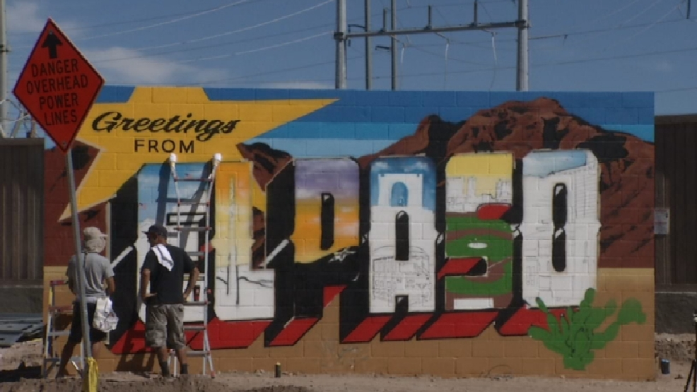 39 greetings from el paso 39 mural goes on view in new upper for Sun city motors el paso tx