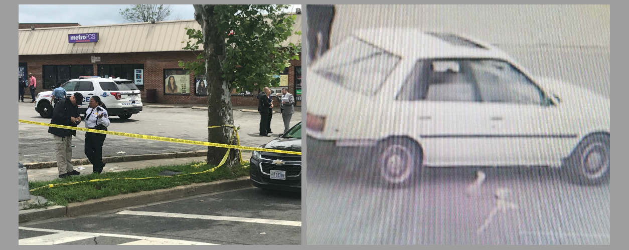 Three men were shot outside of a strip mall in Southeast D.C.{ } Police released a photo of the car linked to the shooting.Thursday, May 31, 2018 (Stephen Tschida/D.C. Police){ }