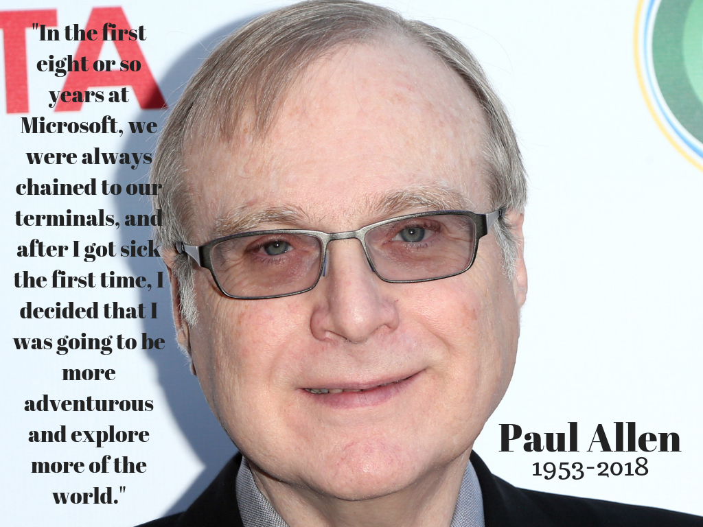 <p>Paul Allen, co-founder of Microsoft, died yesterday from complications of non-Hodgkin's lymphoma. Allen was incredibly involved in the Northwest whether it be owning the Seahawks and the Portland Trail Blazers to giving back philanthropically or creating opportunities for artists in the area i.e., Upstream Music Festival. Seattle and the world lost a visionary, but we celebrate his memory with the things he left behind - including these five pearls of wisdom! (Image courtesy of WENN Images).</p>