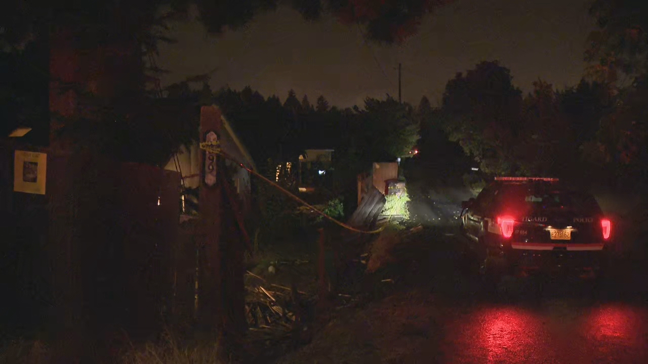 A driver hit a car, crashed through three fences, and smashed into a house in Tigard on Sept. 13, 2019. KATU photo