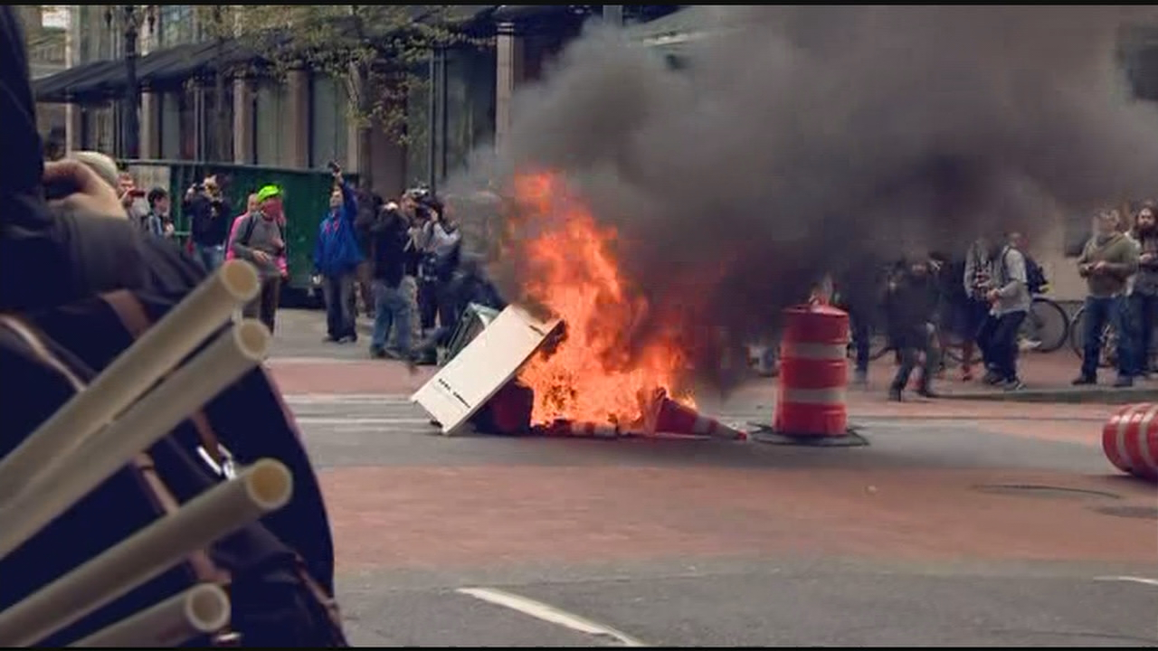 May Day 2017 in Portland (KATU News photo)