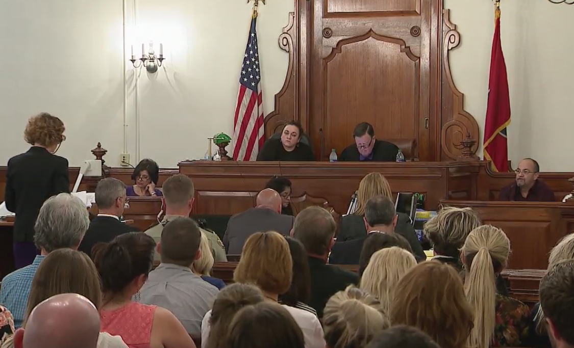 Witness Victor Dinsmore testifies during Day 5 of the Holly Bobo murder trial where Zach Adams is accused of her kidnapping, rape, and murder. PHOTO: WZTV FOX 17 News Nashville