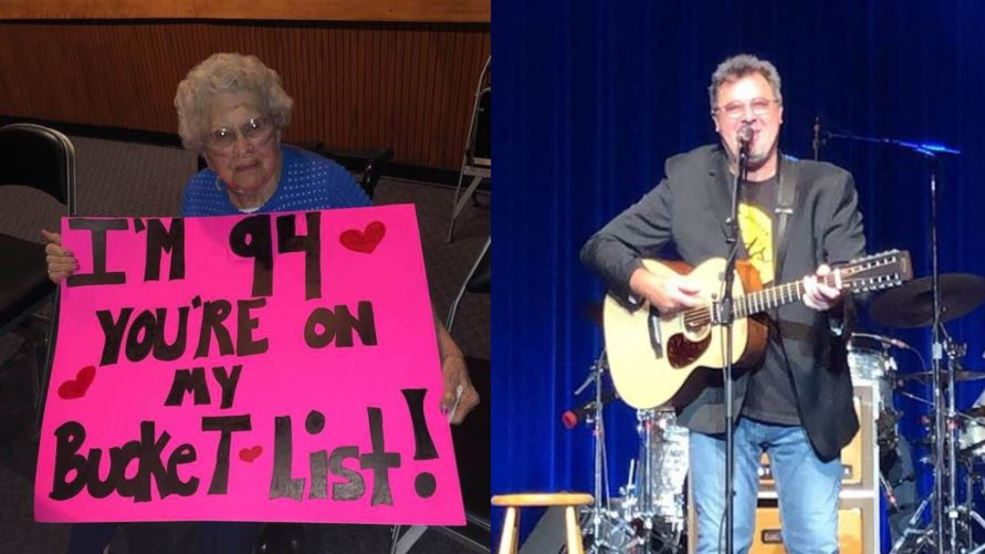 Dream come true:' 94-year-old called to front of stage at Vince Gill