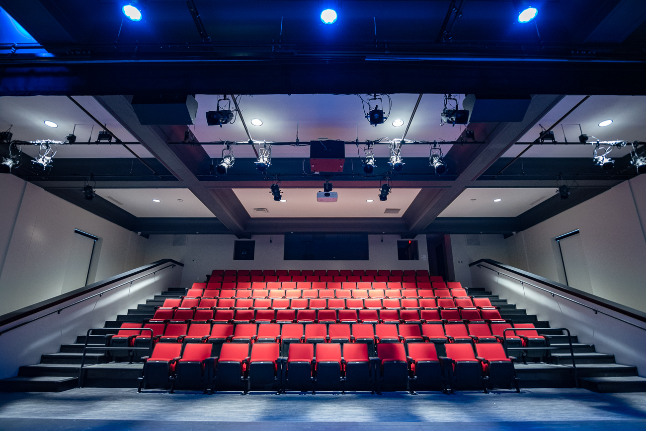 The theater on the second floor sits 135 people. The stage is within close proximity to the seats, making for a level of intimacy between viewer and performer. / Image: Phil Armstrong, Cincinnati Refined // Published: 1.26.19