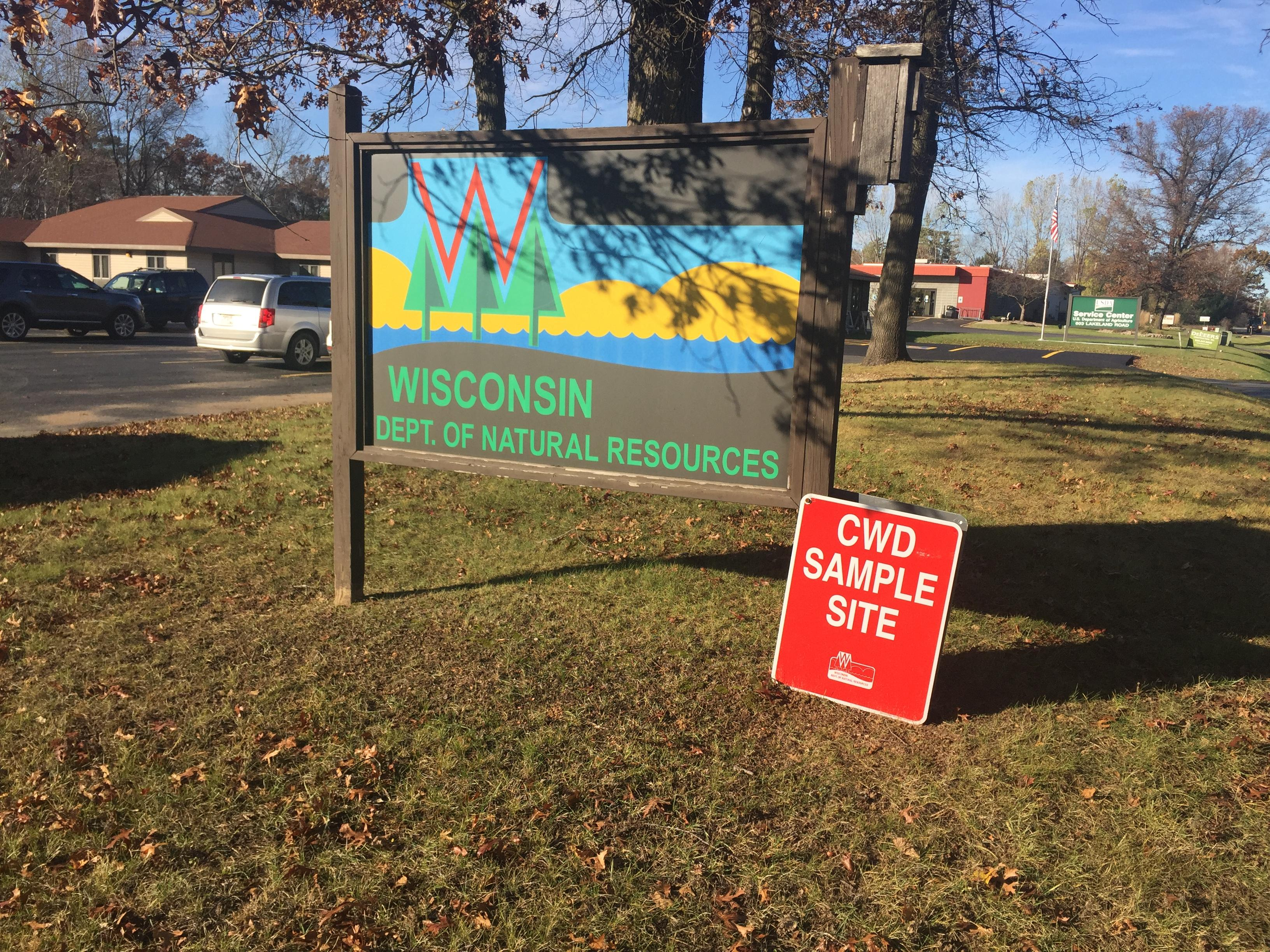 CWD drop off site at Shawano DNR office, November 6, 2017 (WLUK/Eric Peterson)