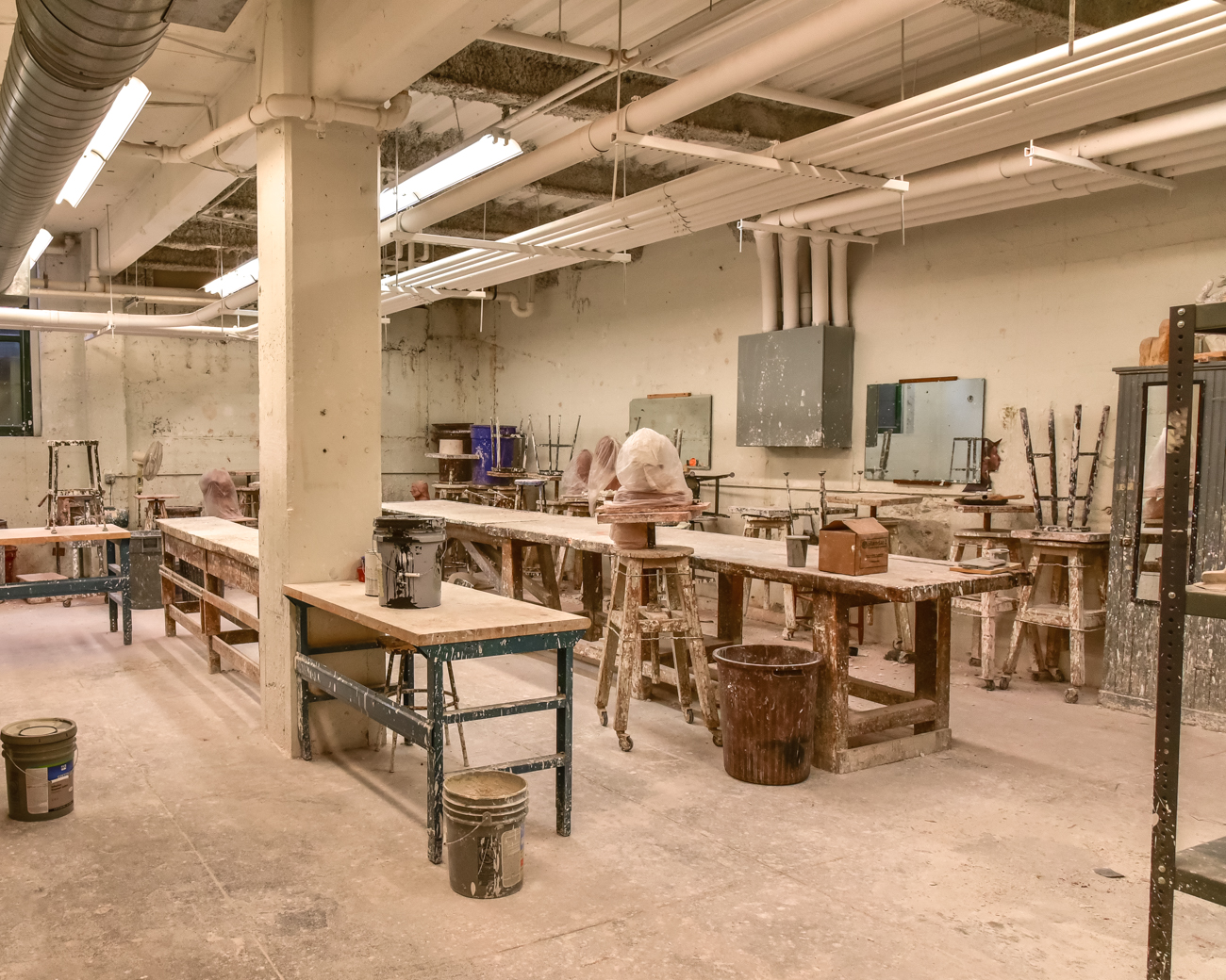 Ceramics, metalworking, framing, and sculpture workshops all occupy the basement level of the academy. / Image: Phil Armstrong, Cincinnati Refined // Published: 2.16.17