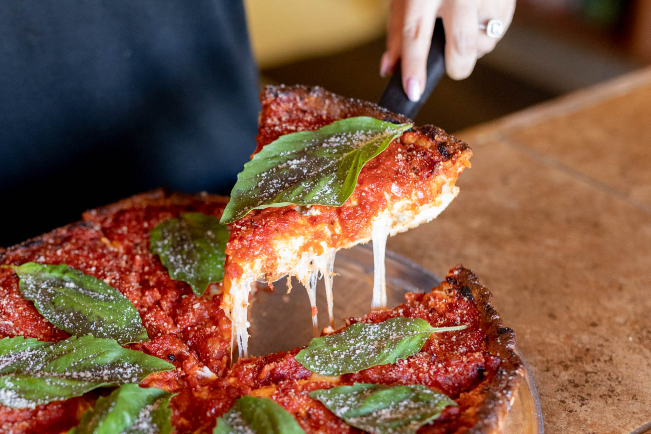 The Chicago-style deep dish pizza / Image courtesy of Bourbon House Pizza // Published: 1.9.20