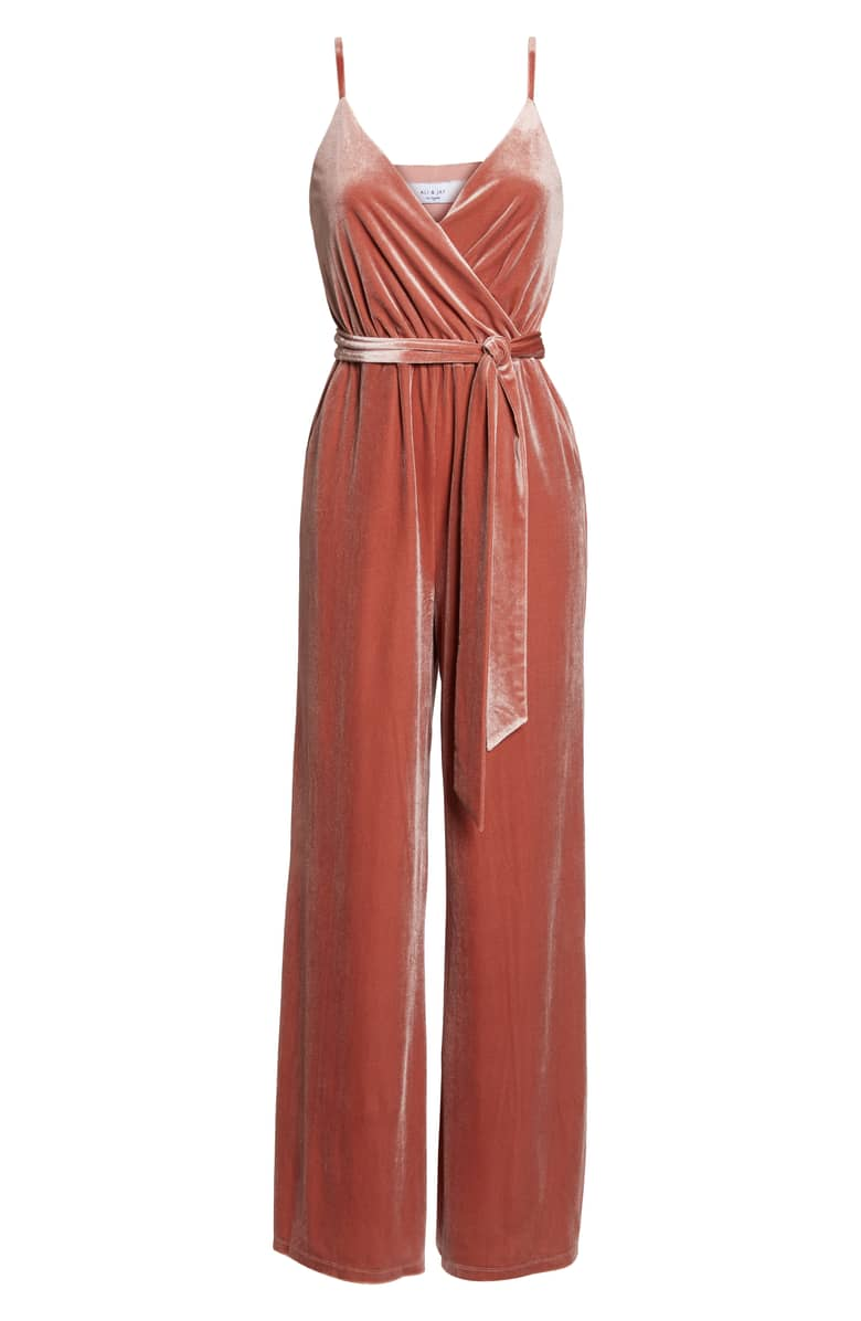 Ali & Jay Love Child Velvet Jumpsuit, $148.{ }Give the special lady in your life a gift to help her shine. Nordstroms helped us shop for a standout gift she'll love! (Image courtesy of Nordstrom).