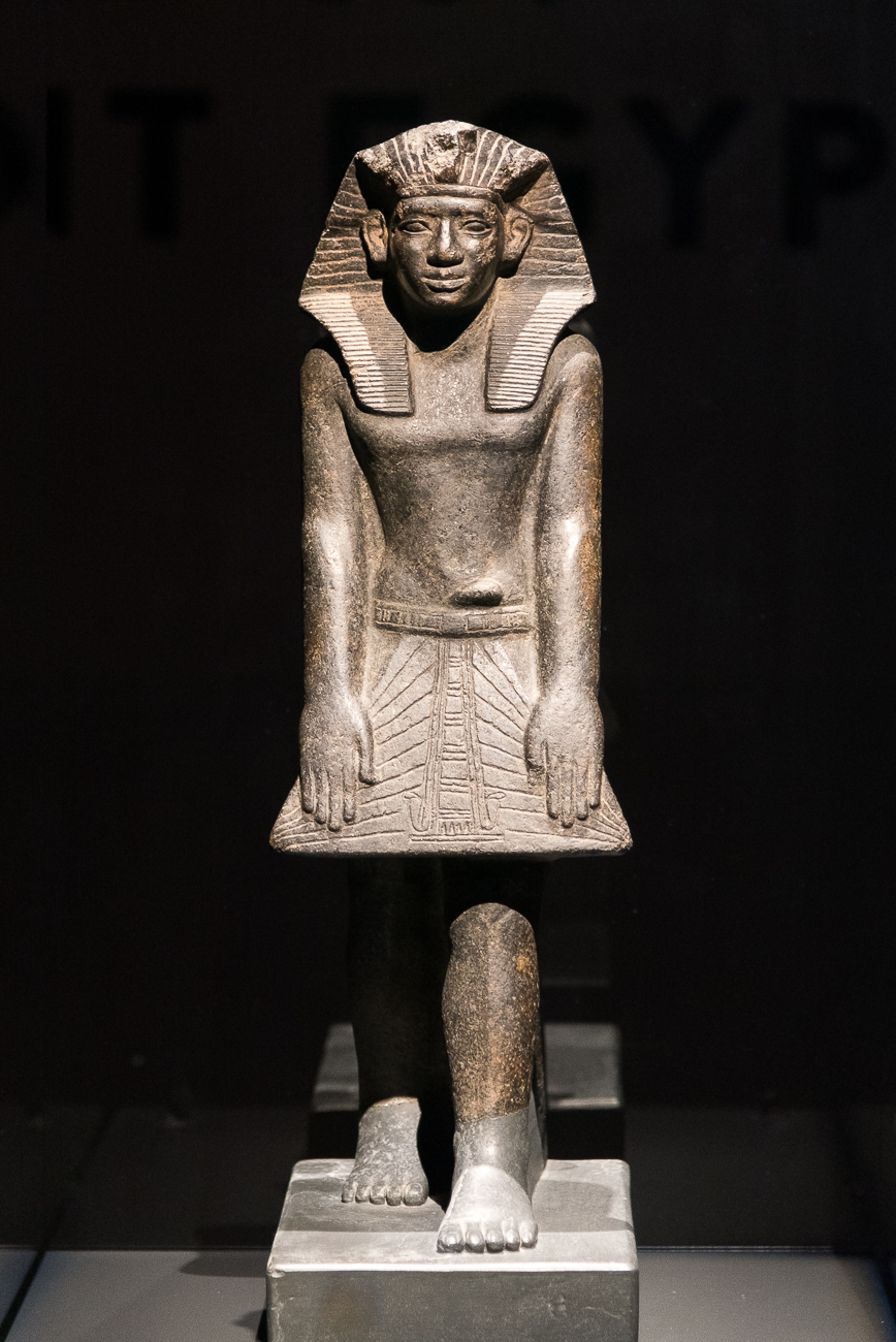 Upon entering Egypt: The Time of the Pharaohs, you're greeted by an over-4,000-year-old statue that's been well-preserved for centuries.{ }/ Image: Phil Armstrong, Cincinnati Refined // Published: 2.15.19