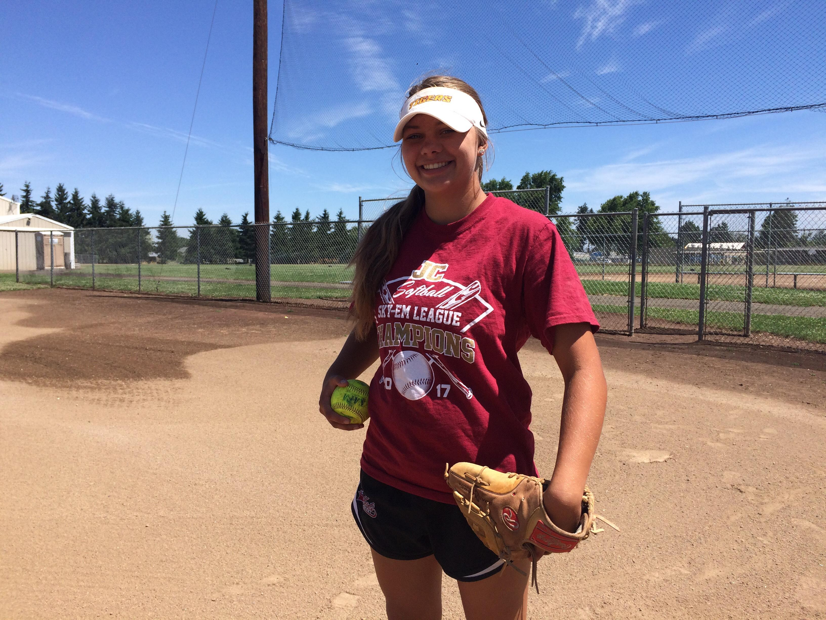 As a freshman, 15-year-old Jenna Kister was named conference pitcher of the year and second team all-state. But before high school, she struggled to stay on the field because of medical issues. (SBG)