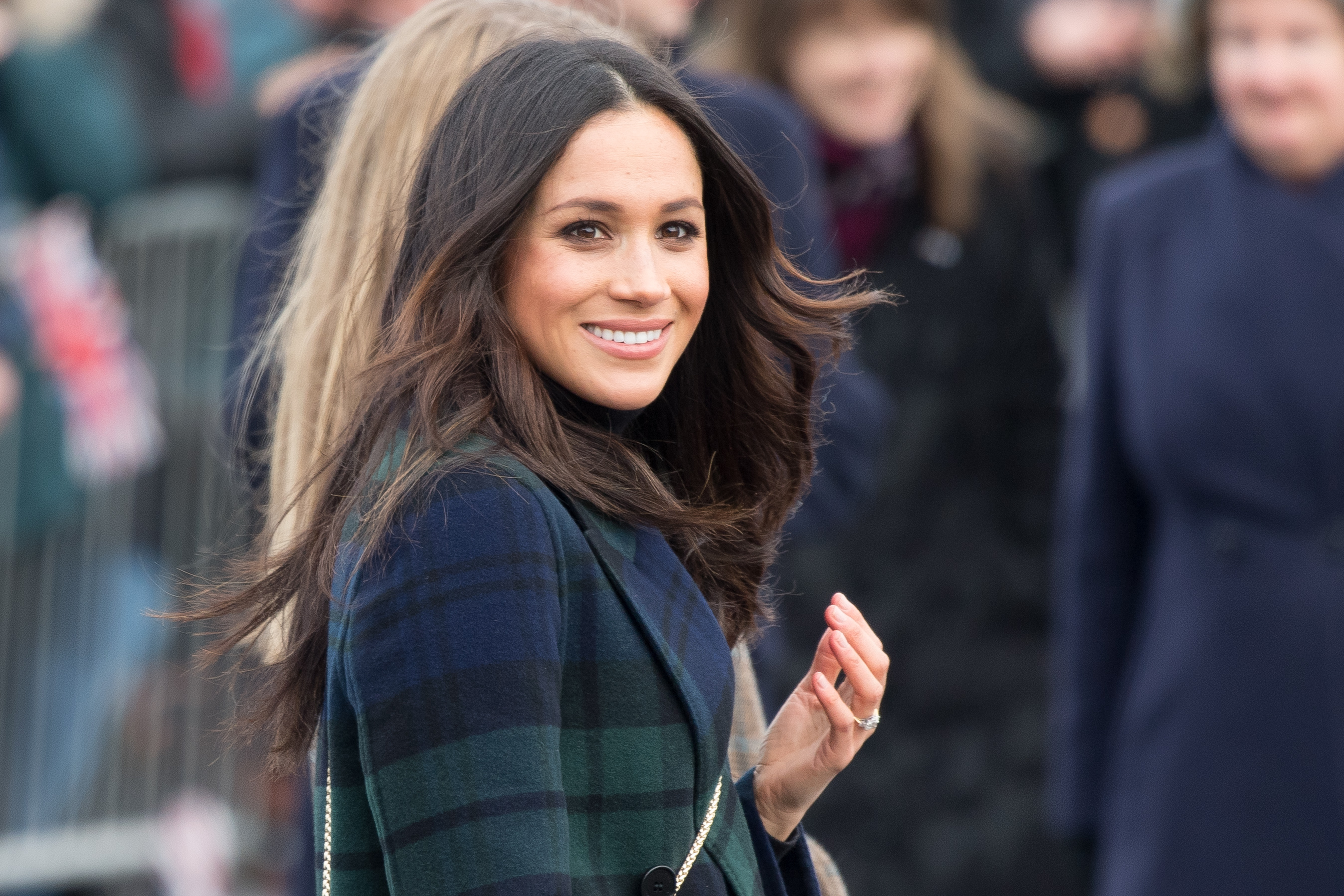 "Erwin Gomez of KARMA salon says he expects Meghan ""will have a classic, flawless look with defined eyes, and will be sticking with neutral tones and a cranberry{ } lip.{ }She is going to make it her own, but also respect that she's the new Princess."" (Image: Dutch Press Photo/WENN.com)"
