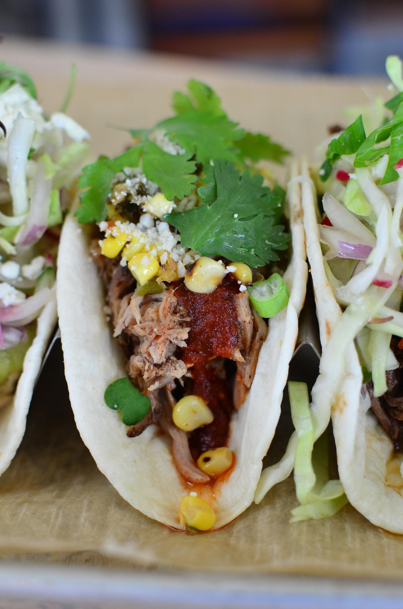 Pork taco / Image: Leah Zipperstein, Cincinnati Refined // Published: 5.13.17