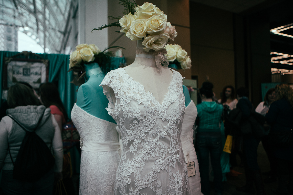 Hundreds of vendors presented their goods and services at the 2014 Seattle Wedding Expo. Thousands preparing for their owning wedding found potential dresses, florists, caterers, DJs and more. (Joshua Lewis / Seattle Refined)