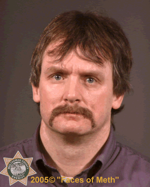 "Photo taken before methamphetamine related use according to Multnomah County Sheriff's Office, Oregon. The photo was part of a 2005 project called ""Faces of Meth"" put on by the Multnomah County Sheriff's Office to help raise awareness about the drug's dangers.  (Photo and info courtesy of the Multnomah County Sheriff's Office)"