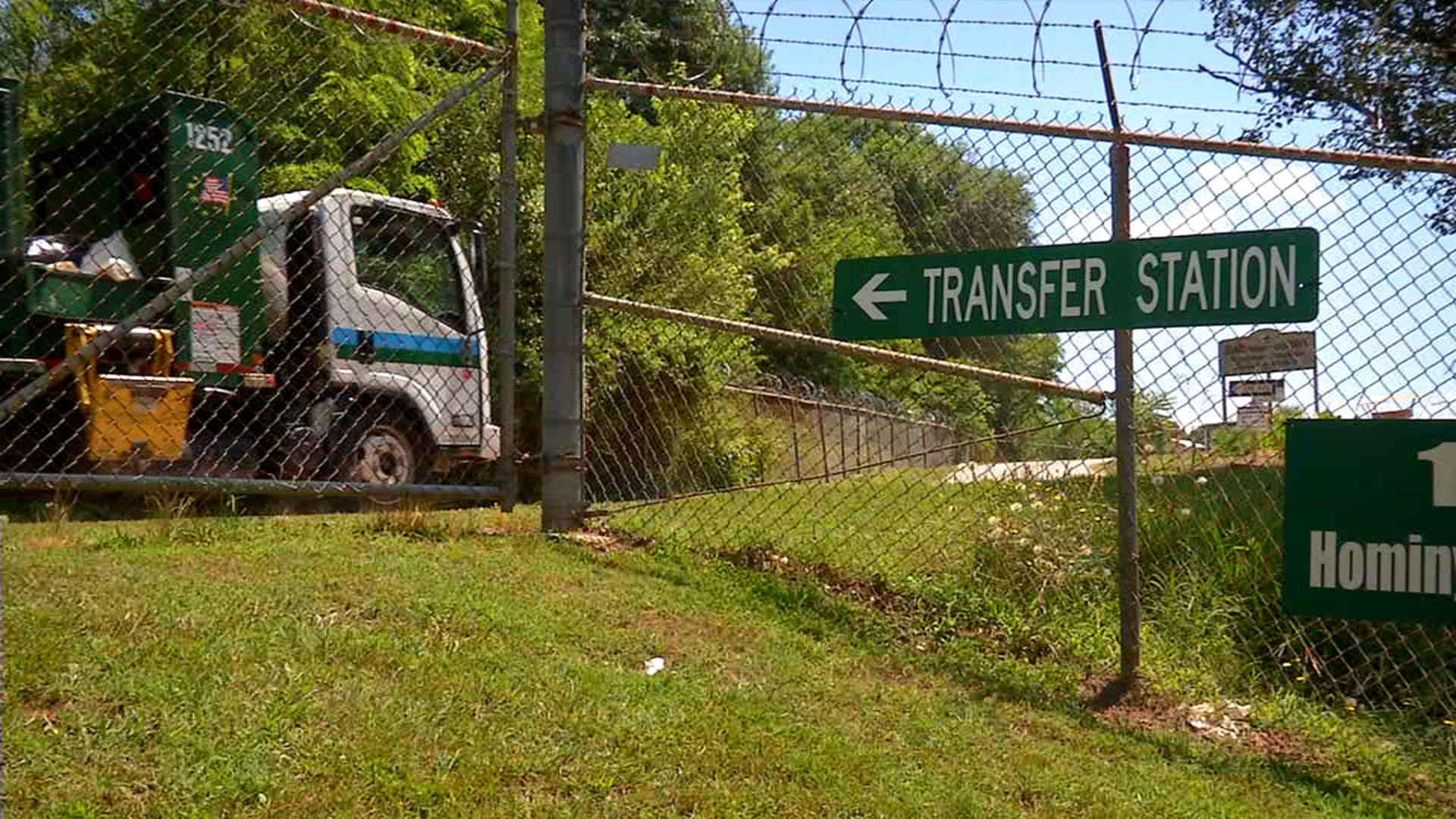 The French Broad Riverkeeper says he wants to test the water quality by the transfer station. (Photo credit: WLOS)