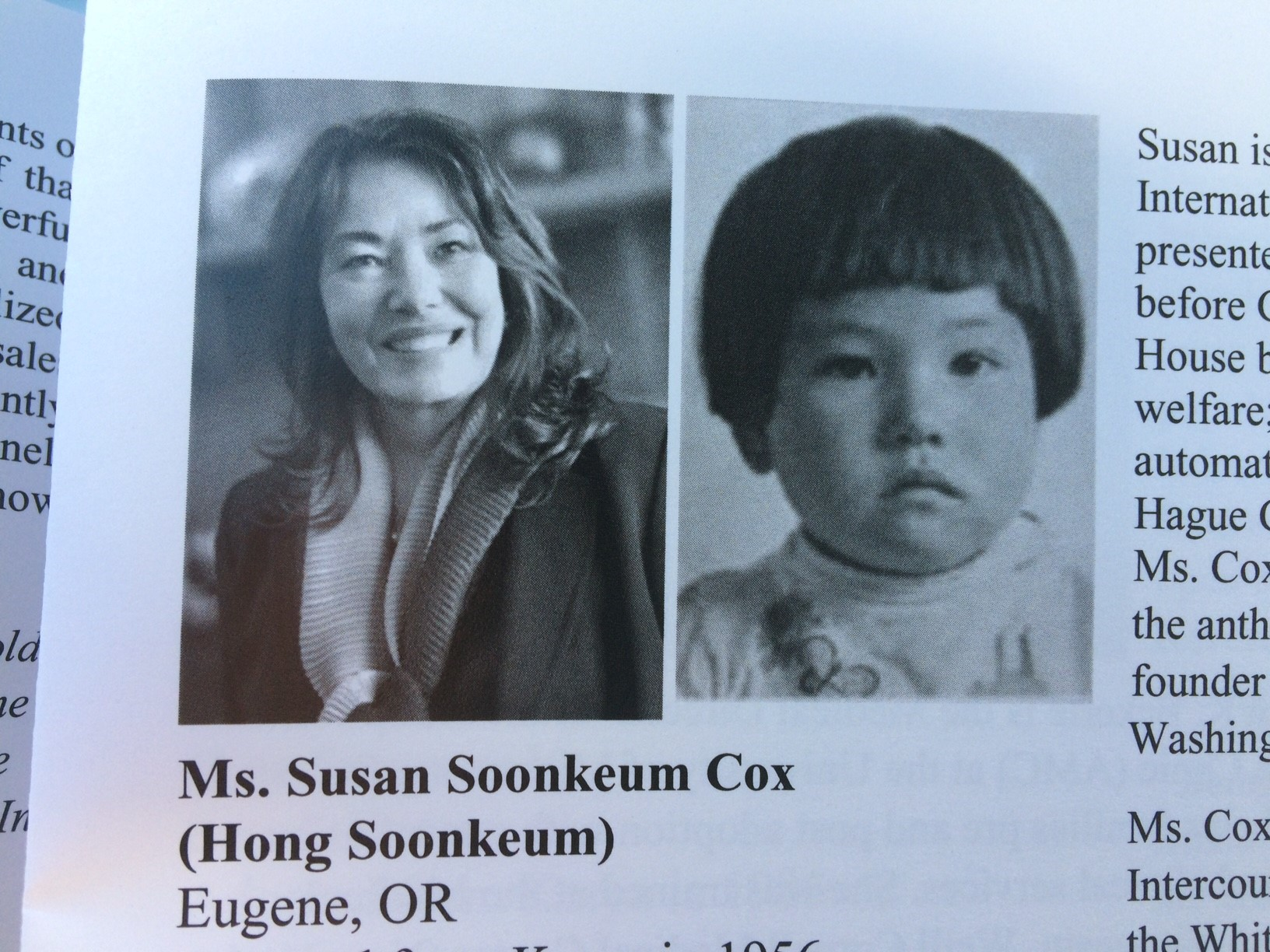 <p>&quot;There are 18 adults adoptees who will be going back, and we're from all over the country,&quot; said Susan Soonkeum Cox, Vice President of Policy &amp;amp; External Affairs at Holt International. (SBG)</p>