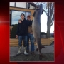 Only sturgeon speared Wednesday was unusually large