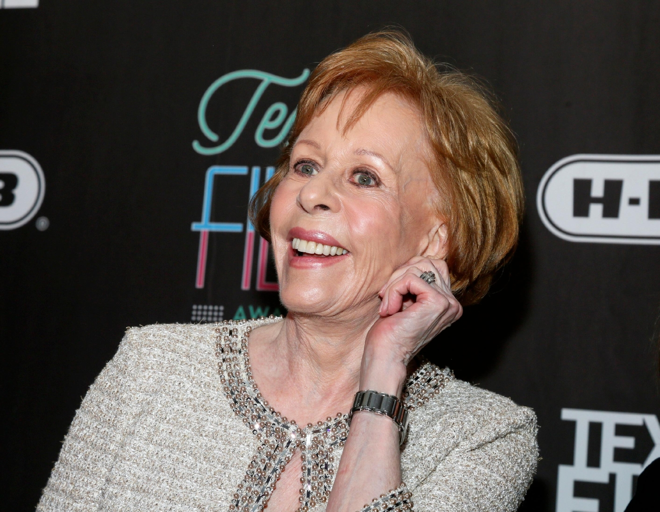 FILE - In this March 10, 2016 file photo, comedian-actress Carol Burnett appears at the 2016 Texas Film Awards at Austin Studios in Austin, Texas. (Photo by Jack Plunkett/Invision/AP, File)