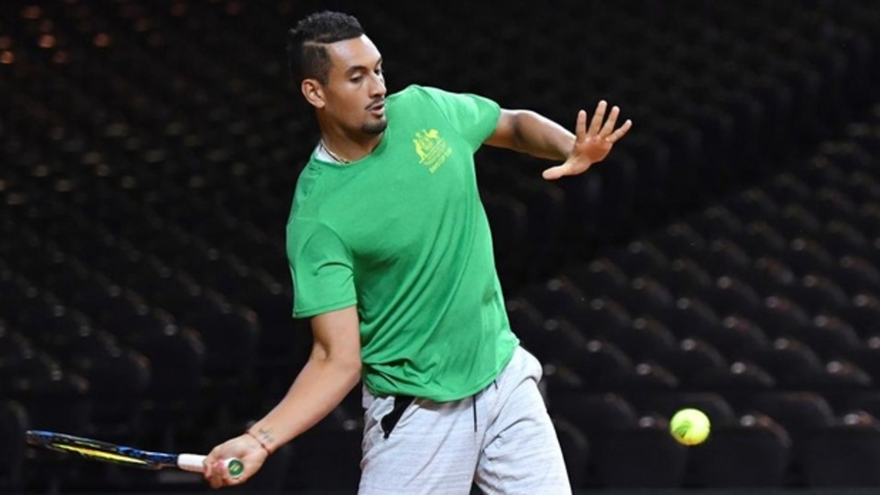 Nick Kyrgios is off to a good start in Houston. (AP)