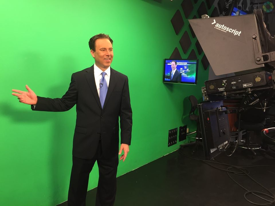 Photo: Allen on the green screen!<p></p><p>Photo source: Channel 3's chief meteorologist Allen Strum via Burst</p>