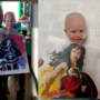 Tragedy and a passion for painting lead Utah man to paint for sick children