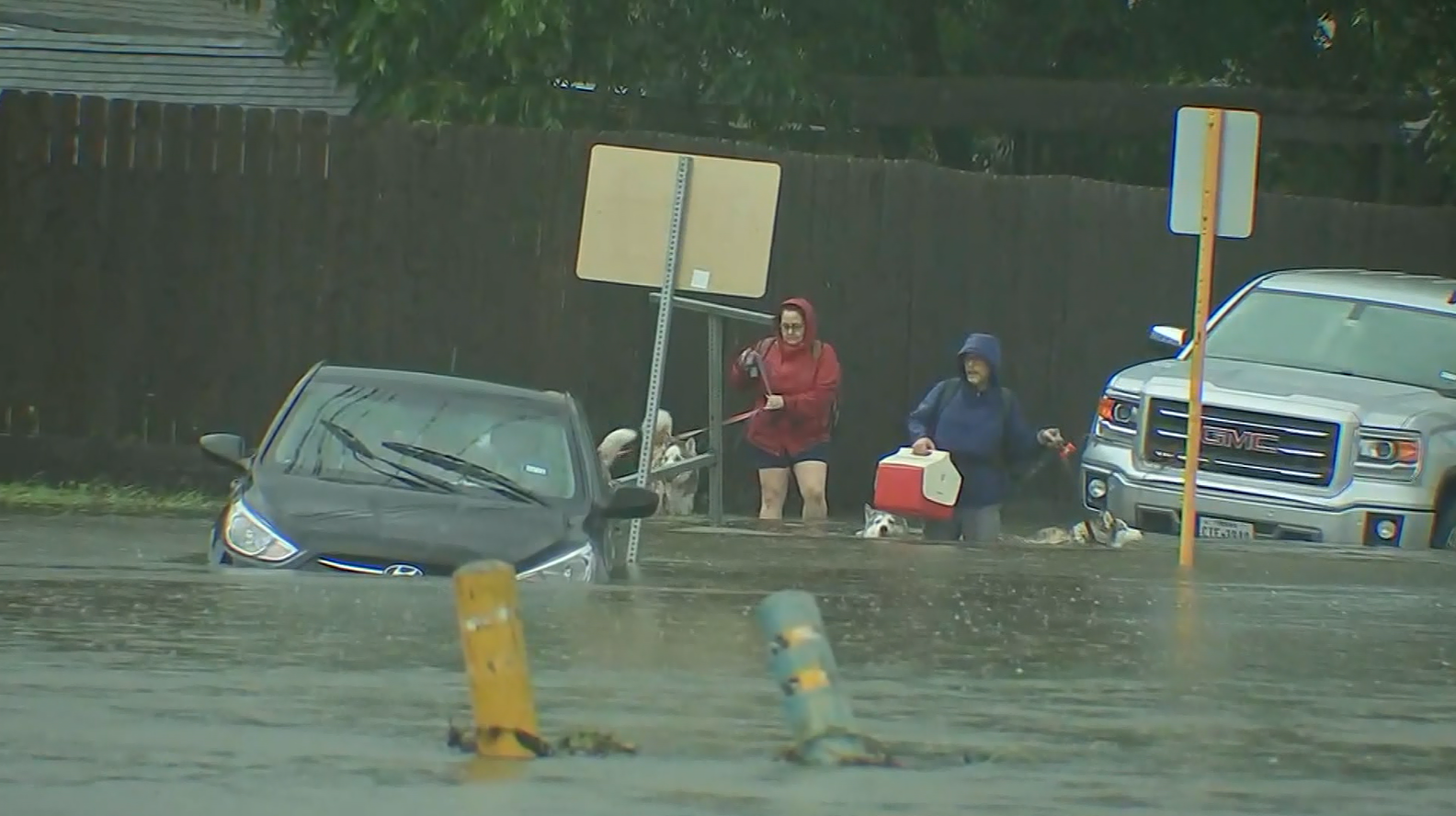 Flooding rescues in Houston  (KTRK/CNN)