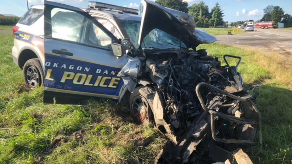 Police: Pokagon Tribal squad car crash leaves 1 dead | WSBT