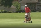 Sophie Linder lines up her putt on the green at Black Creek Golf Club - WTVC.JPG