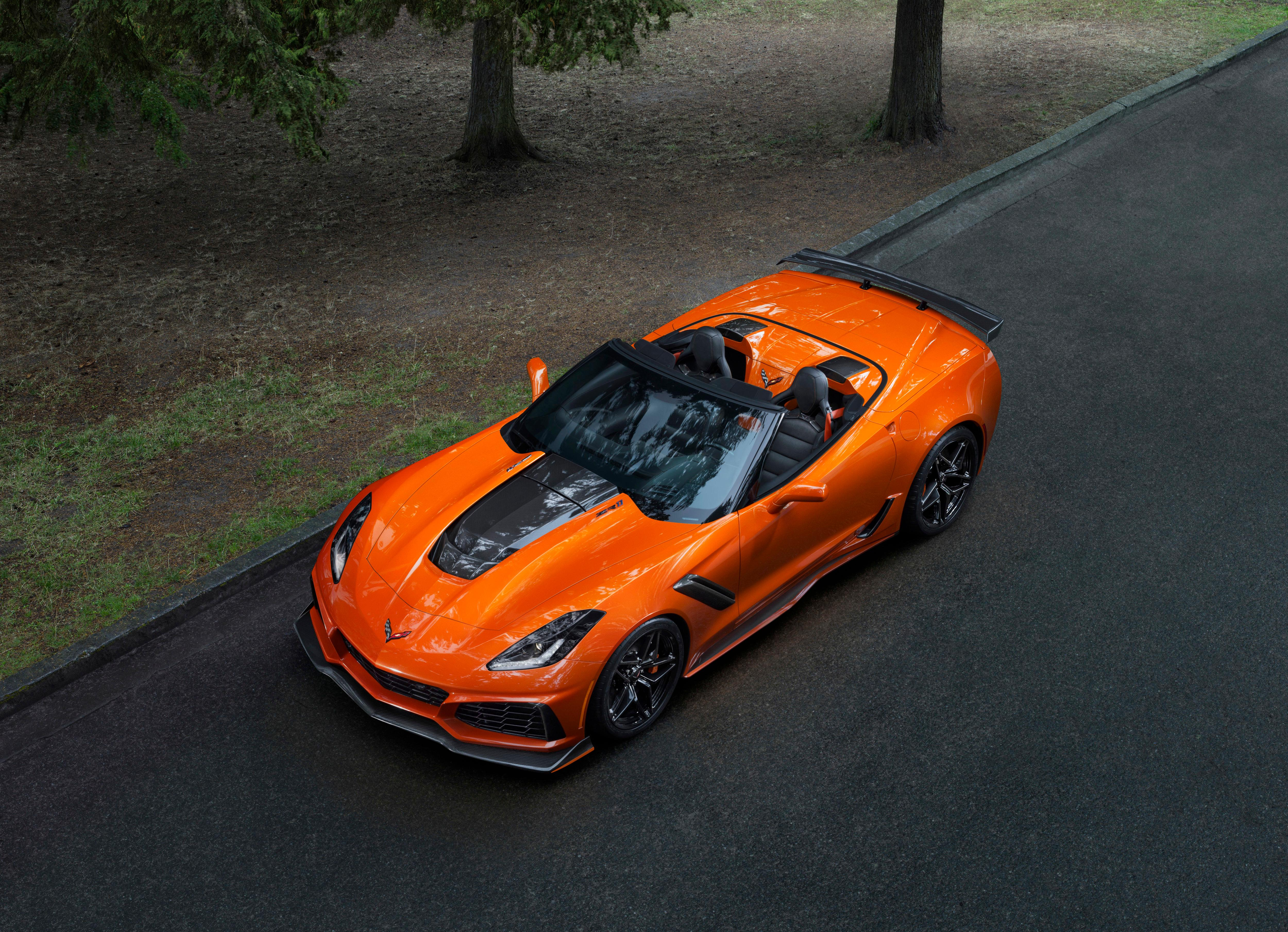 This photo provided by Chevrolet shows the Chevrolet Corvette ZR1 convertible. The car is only 60 pounds heavier than the standard coupe and still will have a top speed of over 200 miles per hour. (Chevrolet via AP)