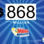 El premio mayor de Florida, Mega Millions sigue creciendo.