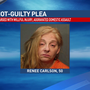 Woman charged in husbands death pleads not-guilty