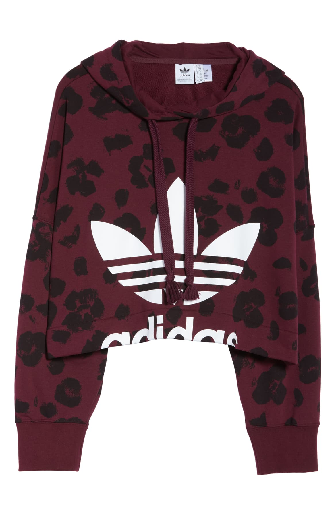 "<p>Sporty, feminine and whimsical, this French terry cropped hoodie is cut with drapey dolman sleeves and patterned in an abstract floral print and a cutoff logo. $70.{&nbsp;}<a  href=""https://shop.nordstrom.com/s/adidas-originals-bellista-allover-print-crop-hoodie/5221467/full?origin=keywordsearch-personalizedsort&breadcrumb=Home%2FAll%20Results&color=maroon%2F%20black"" target=""_blank"" title=""https://shop.nordstrom.com/s/adidas-originals-bellista-allover-print-crop-hoodie/5221467/full?origin=keywordsearch-personalizedsort&breadcrumb=Home%2FAll%20Results&color=maroon%2F%20black"">Shop it</a>. (Image: Nordstrom){&nbsp;}</p>"