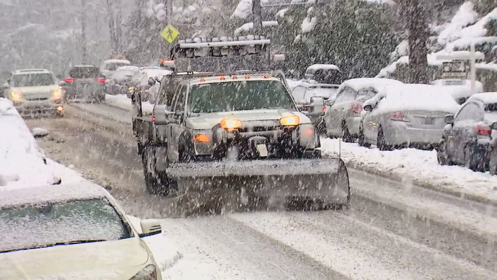 Local agencies stock plows as snow makes its way to Puget Sound