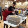 Liberty students help prepare meals for the hungry