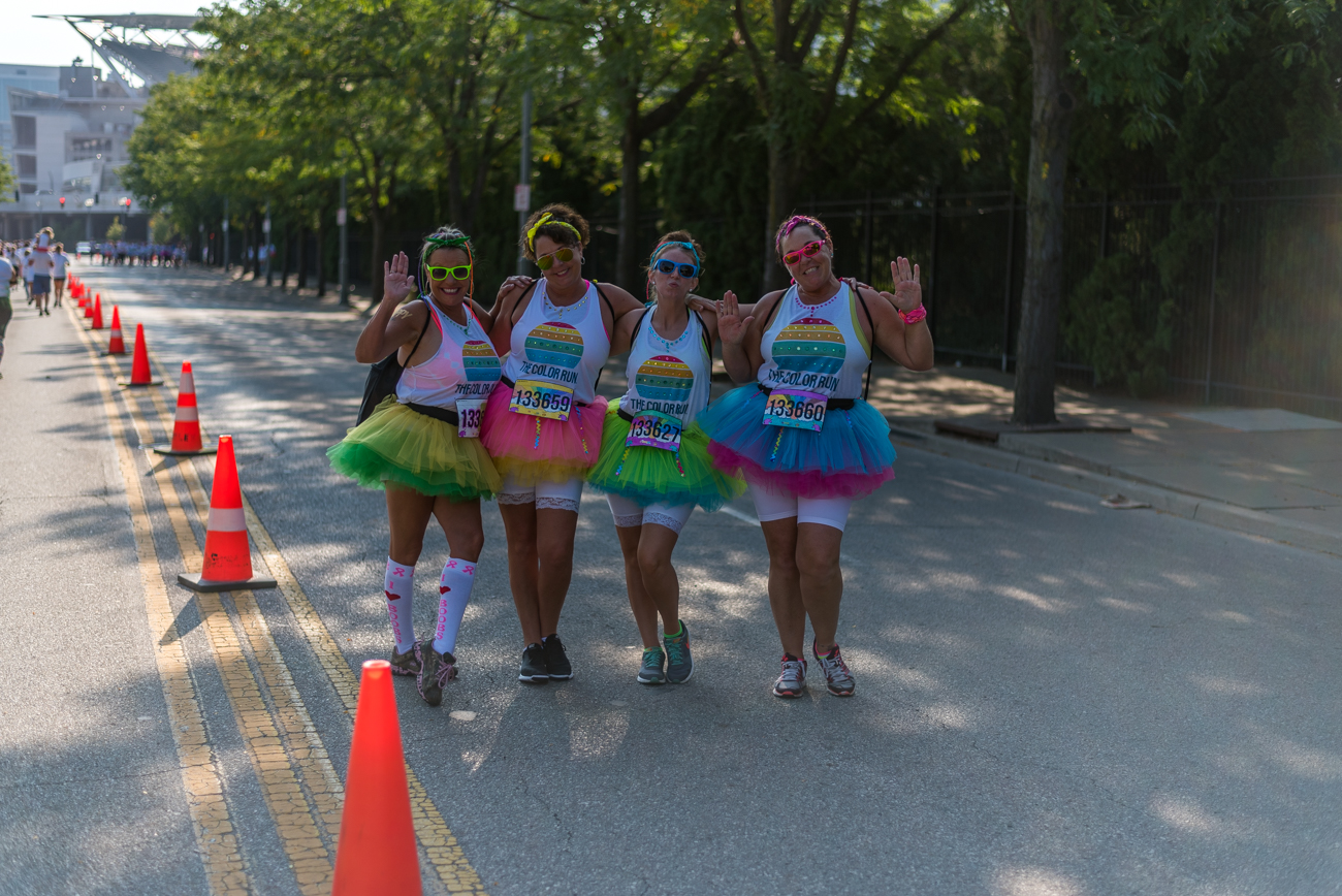 People: Karen Cavender, Carrie Sturwold, Cassie Baskerville, and Christine Baskerville / Event: The Color Run (8.12.17) / Image: Mike Menke // Published: 9.3.17