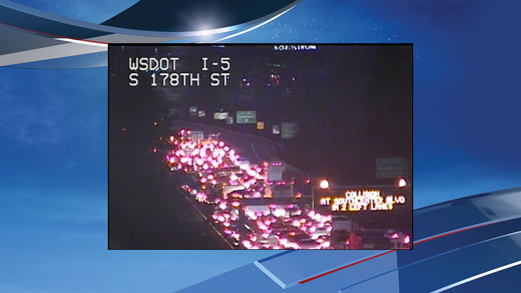 WSDOT photo shows the traffic backup at the scene.