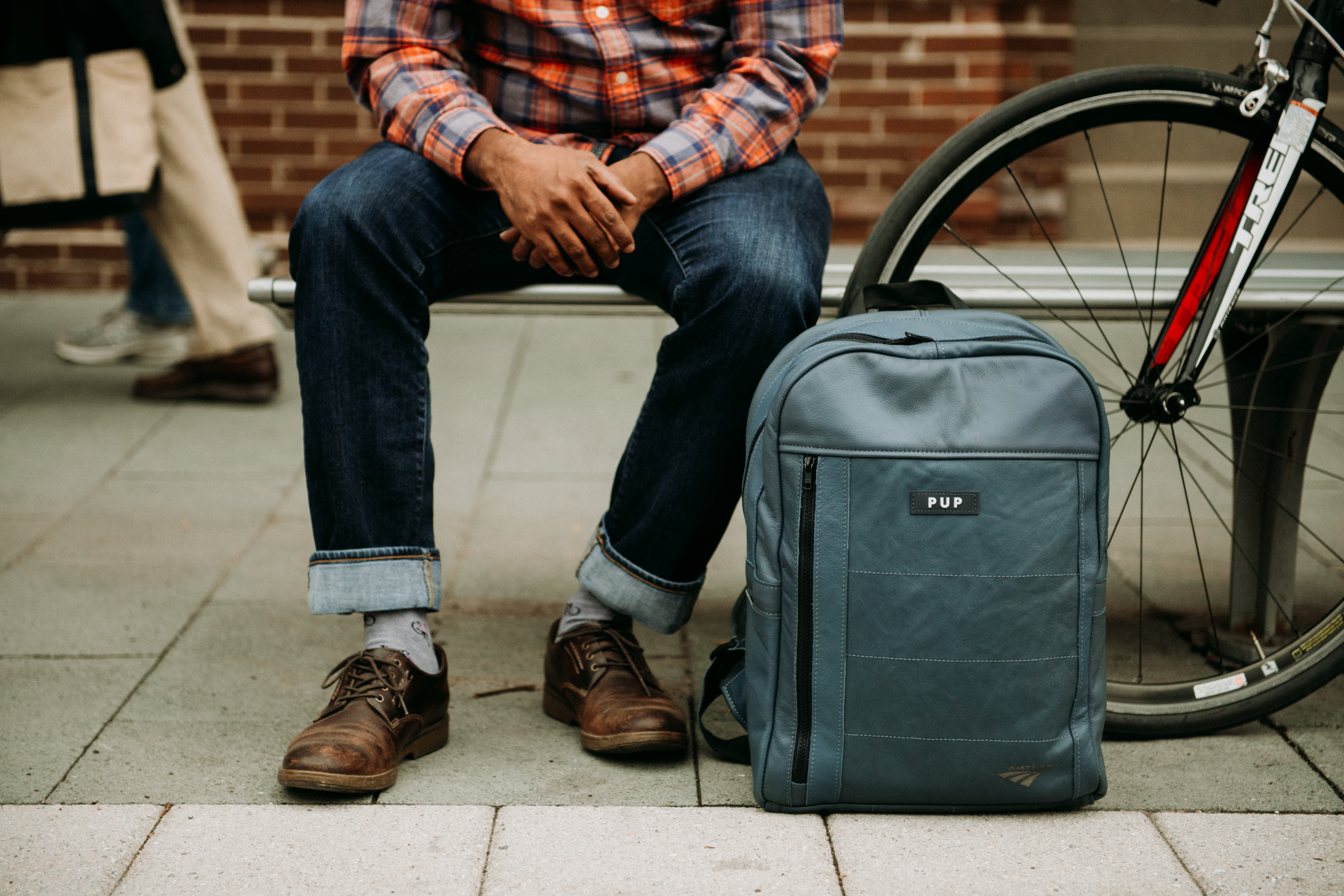 and a leather backpack for $385. (Image: Courtesy Amtrak)