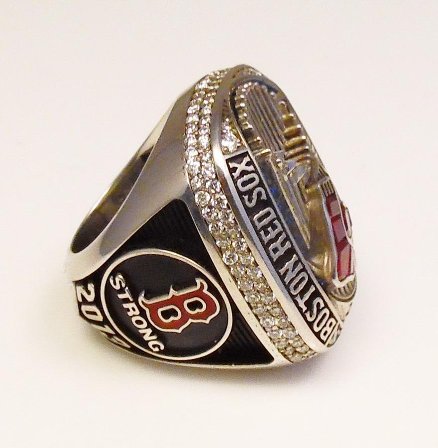 A 2013 Red Sox World Series ring Stinson bought from the team's athletic training. It is one of the items he'll attempt to sell on &quot;Pawn Stars&quot; airing at 10 p.m. on January 22{&amp;nbsp;}(Courtesy: Joe Stinson).<p></p>