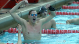 Novinski, McKelvey win gold medals at State Swimming Championships