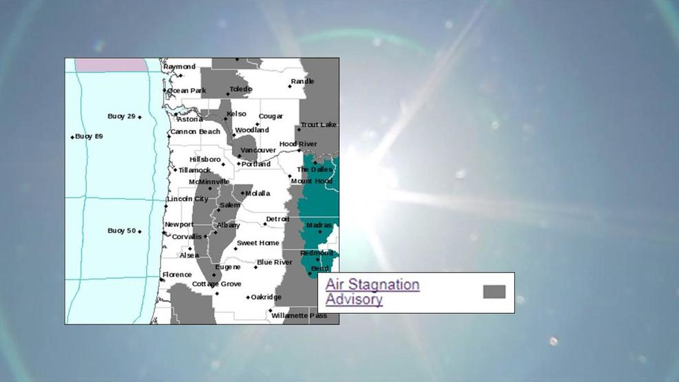Stagnant Air Advisory Issued For Parts Of Willamette