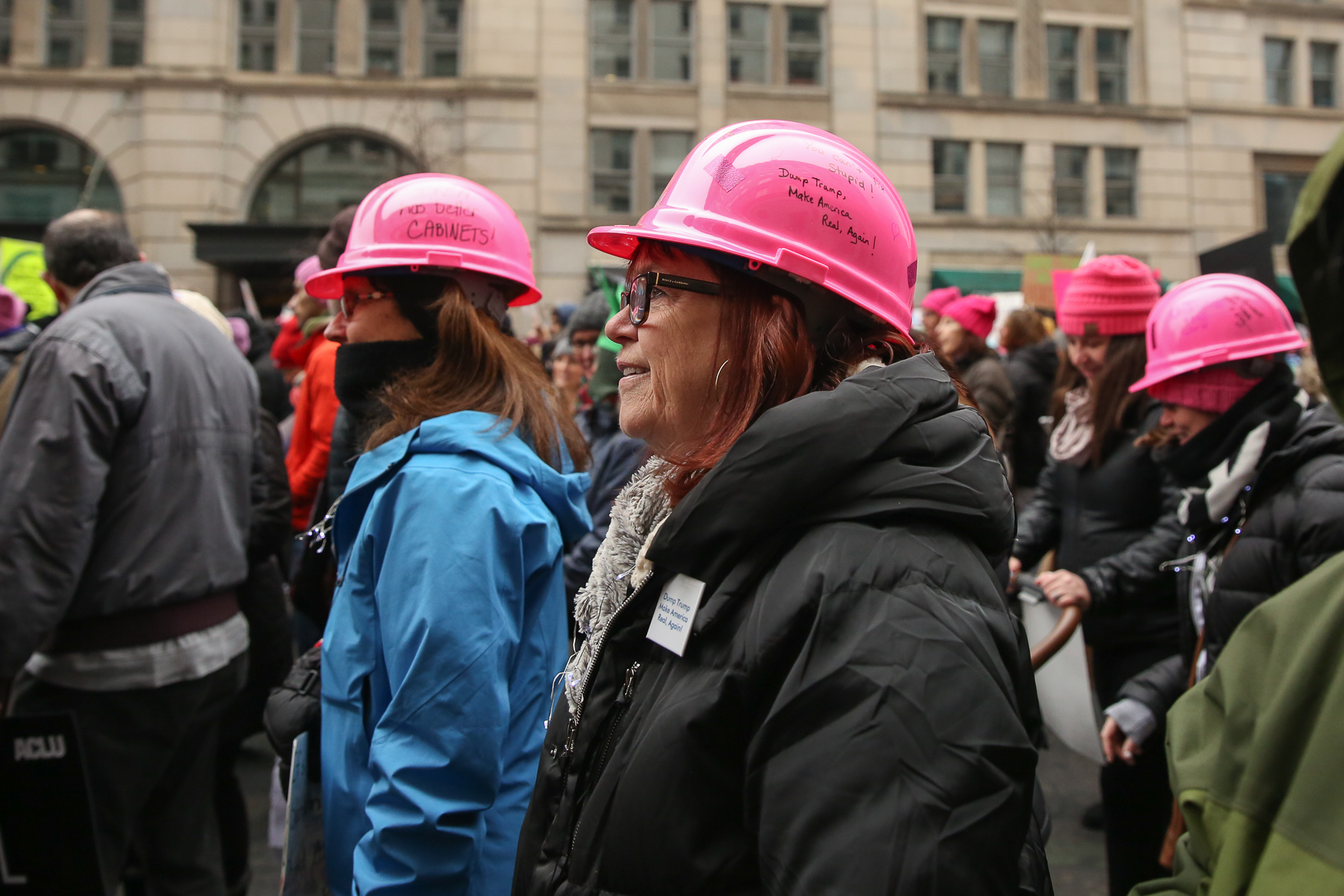 The 2019 Women's March took over a few{ } blocks downtown today. The march didn't draw as many participants in years past as allegations of anti-semitism roiled the organization, however the D.C. speakers prominently featured Jewish women of color.{ } Still, thousands made their way around the block from Freedom Plaza, avoiding the National Mall due to the government shut down. The participants included Indigenous and Muslim women's groups, however anti-abortion protestors and religious groups that oppose the march were dotted along route. (Amanda Andrade-Rhoades/DC Refined)