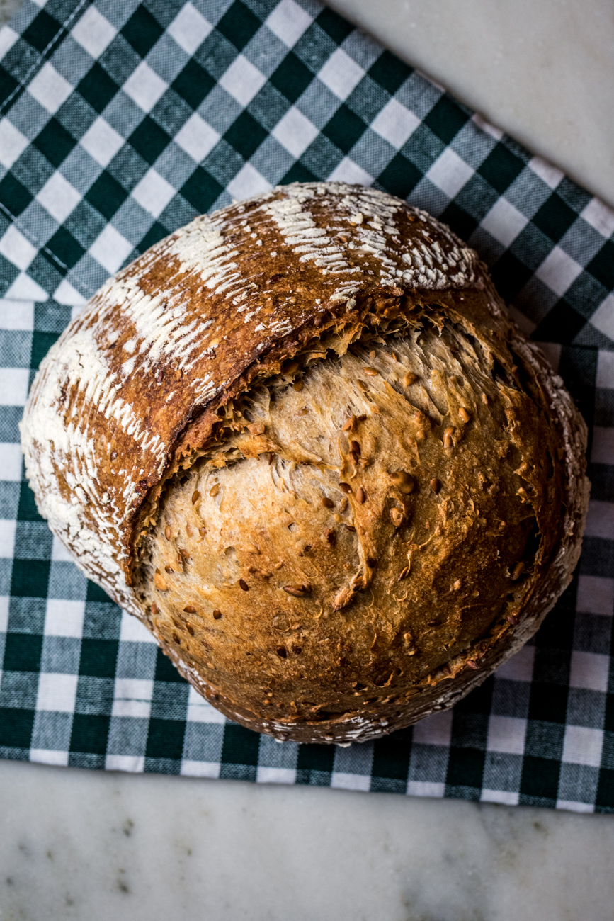 Seeded sourdough loaf / Image: Catherine Viox // Published: 7.14.20