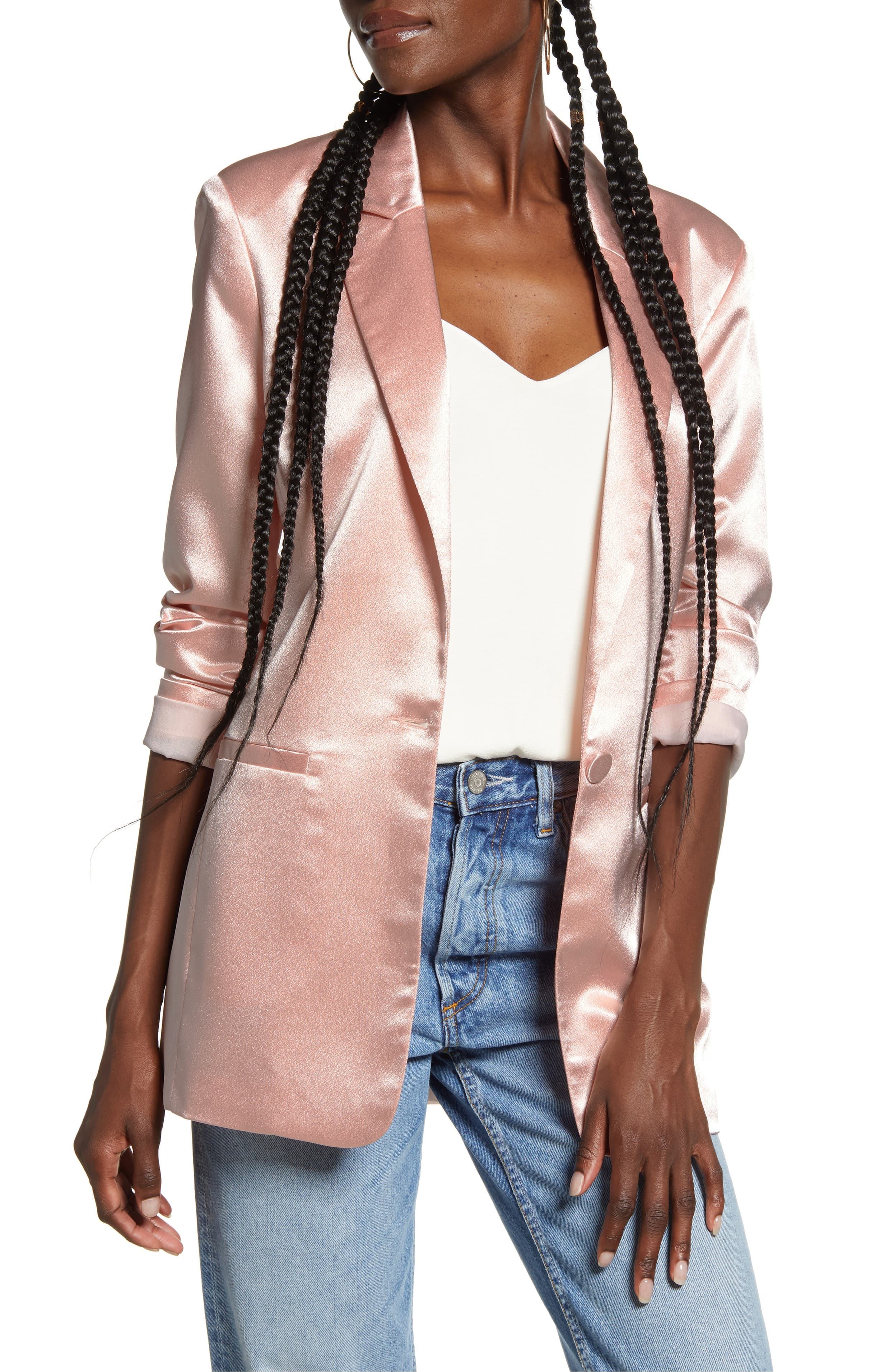 "<p>Elevate your look in this shimmery satin blazer cut in a longline tailored fit, bringing night-out polish to any occasion. $120{&nbsp;}</p><p><a  href=""https://shop.nordstrom.com/s/endless-rose-satin-front-button-jacket/5502429/full?origin=category-personalizedsort&breadcrumb=Home%2FWomen%2FShop%20by%20Occasion%2FNight%20Out&color=pink"" target=""_blank"" title=""https://shop.nordstrom.com/s/endless-rose-satin-front-button-jacket/5502429/full?origin=category-personalizedsort&breadcrumb=Home%2FWomen%2FShop%20by%20Occasion%2FNight%20Out&color=pink"">Shop it{&nbsp;}</a></p><p>(Image: Nordstrom){&nbsp;}</p>"
