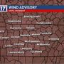 Wind Advisory for Middle Tennessee, cold temps to follow