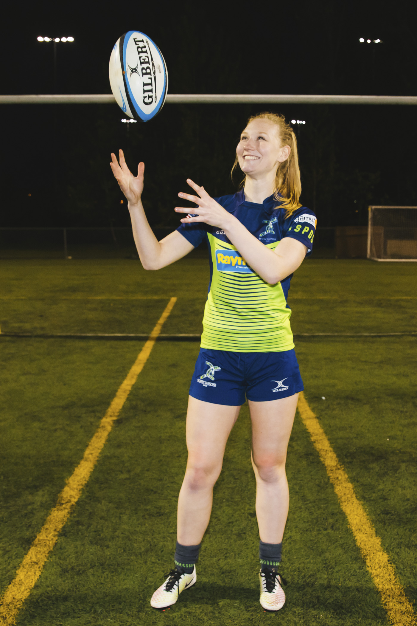 This is Jenny! Jenny plays Flanker and her favorite snack is Oreos. Also, she dates Scott Dean from the Seawolves, fun fact! (Image: Sunita Martini / Seattle Refined).